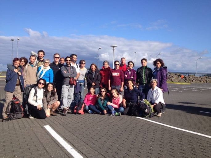 Il gruppo in partenza da Rekjavik