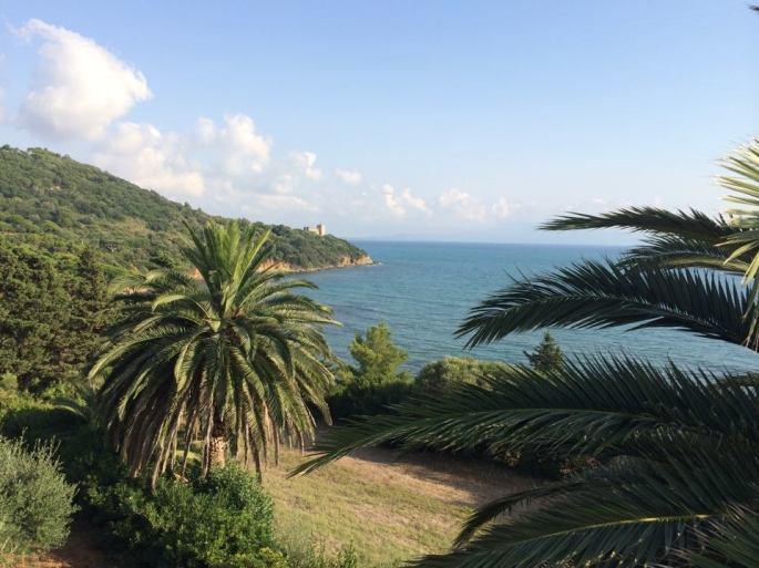 Il golfo di Talamone da Villa Bengodi