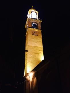 Il campanile all'uscita dal concerto.