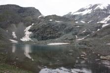 Il Gran Lago sotto al Colle delle Cime Bianche