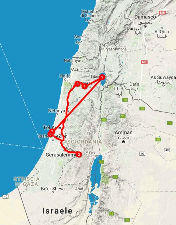 Viaggio in Terra Santa e Israele